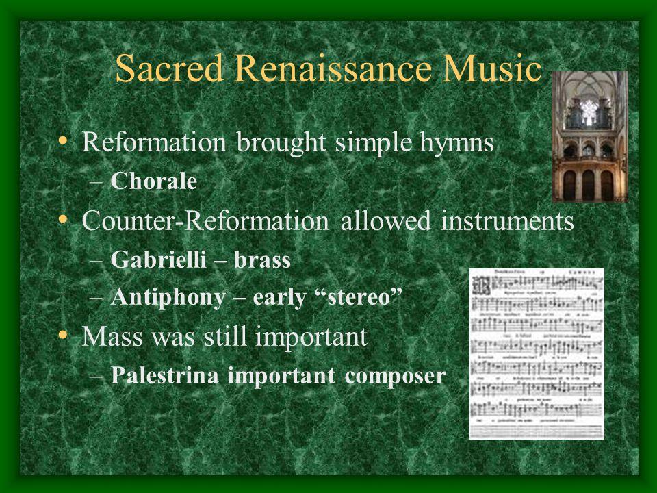 Sacred Renaissance Music