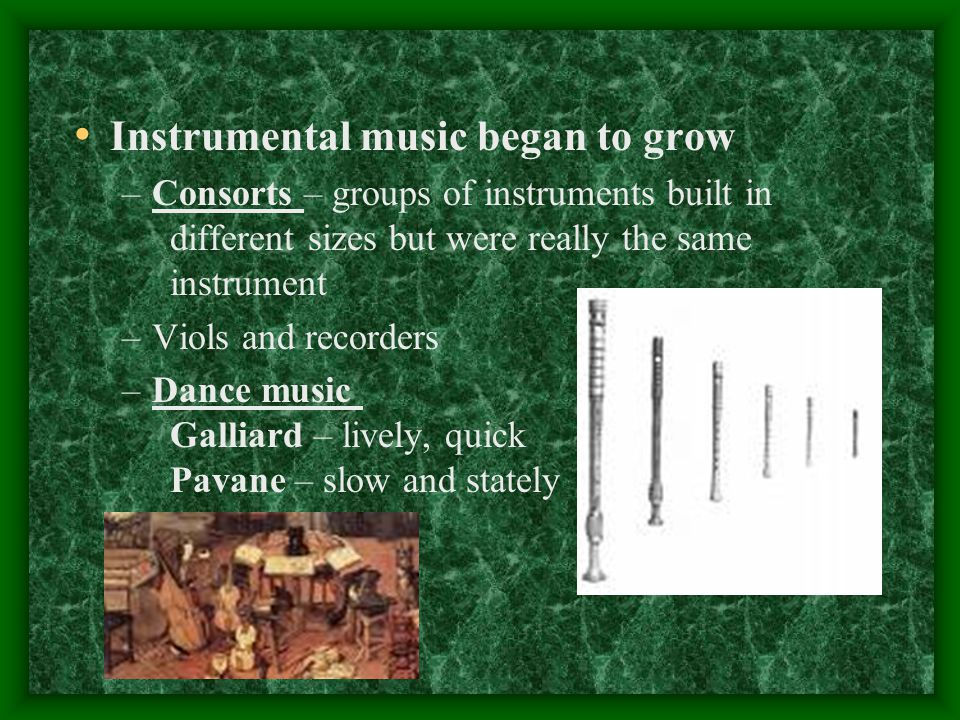 Instrumental music began to grow