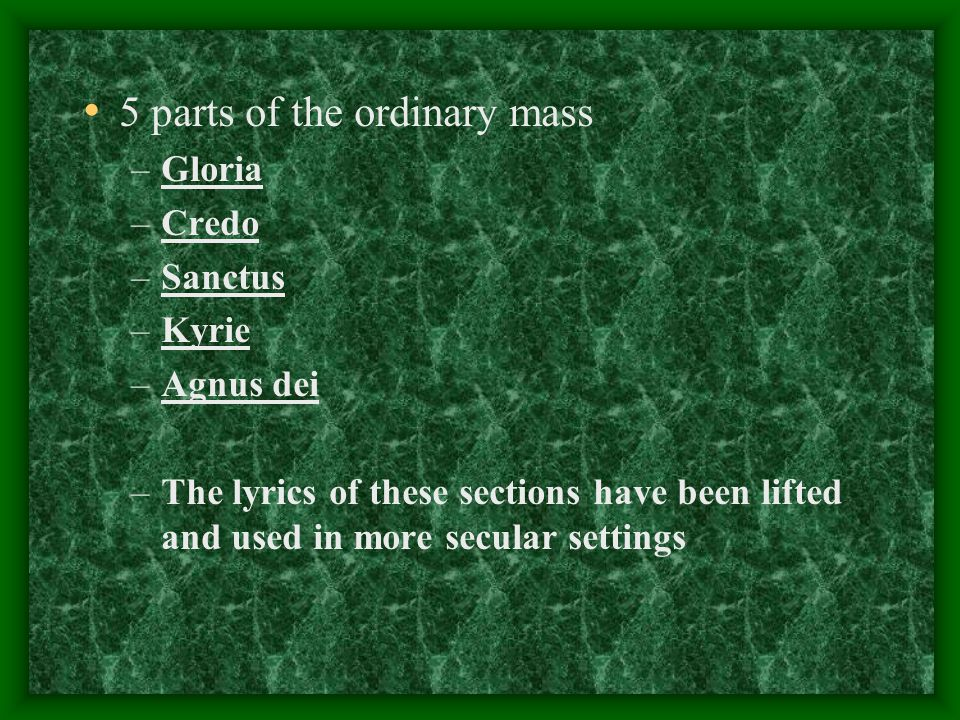 5 parts of the ordinary mass