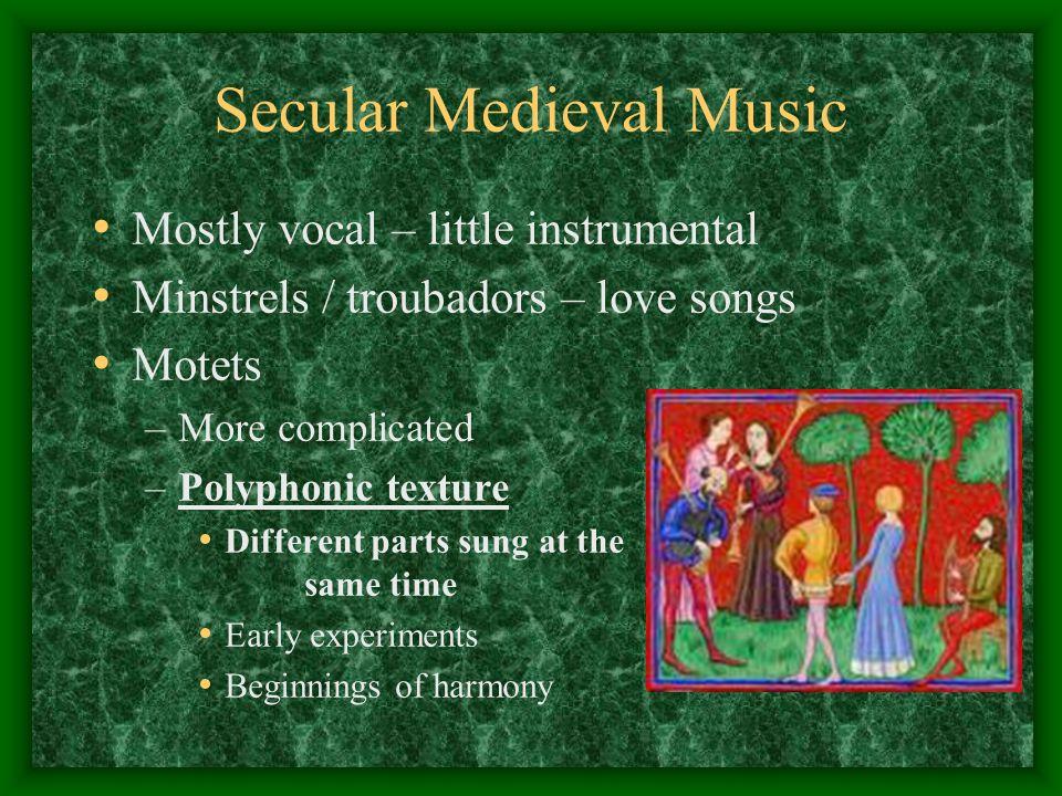 Secular Medieval Music