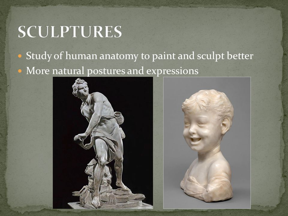 SCULPTURES Study of human anatomy to paint and sculpt better