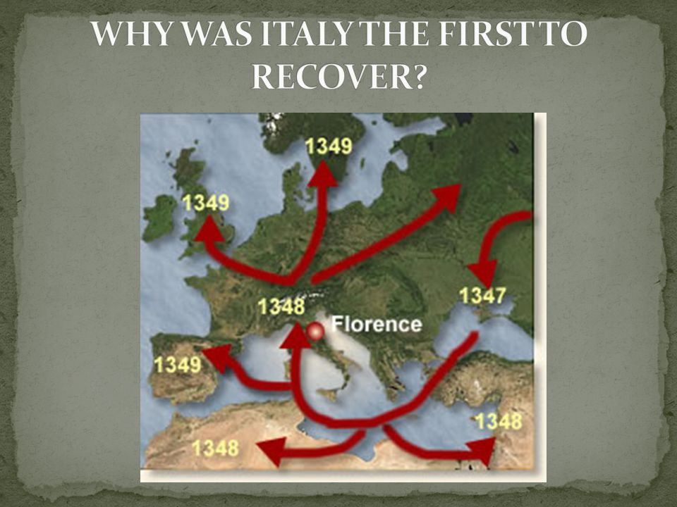 WHY WAS ITALY THE FIRST TO RECOVER