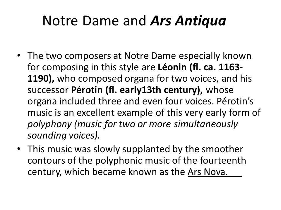 Notre Dame and Ars Antiqua