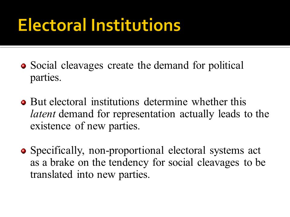 Electoral Institutions
