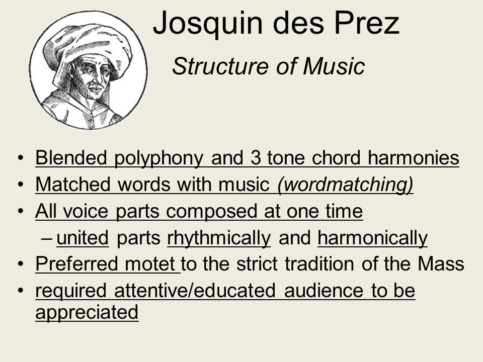 Josquin des Prez Structure of Music