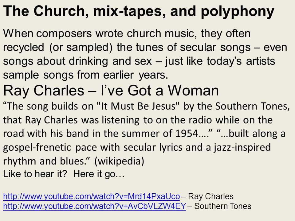 The Church, mix-tapes, and polyphony