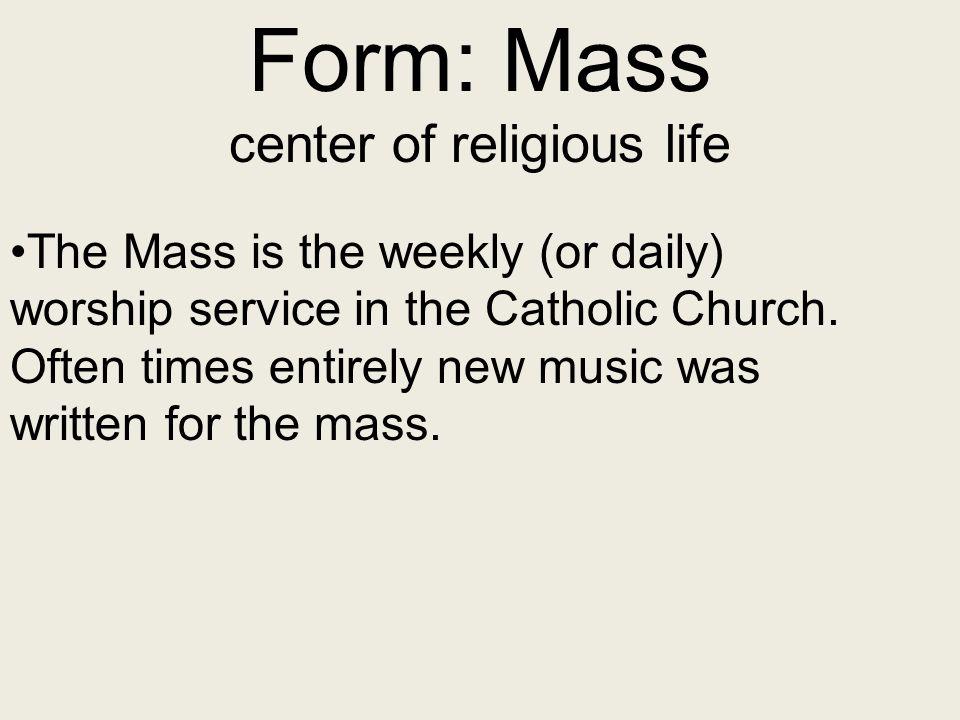 center of religious life