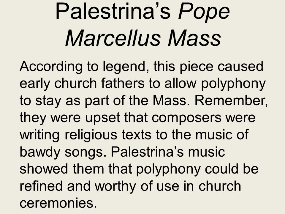 Palestrina's Pope Marcellus Mass