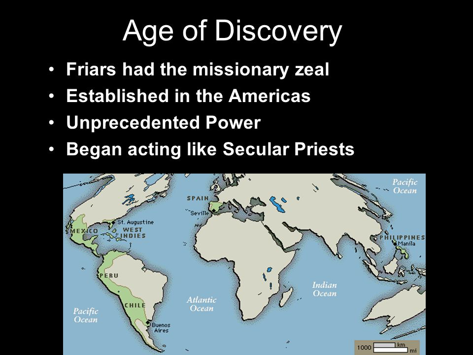 Age of Discovery Friars had the missionary zeal