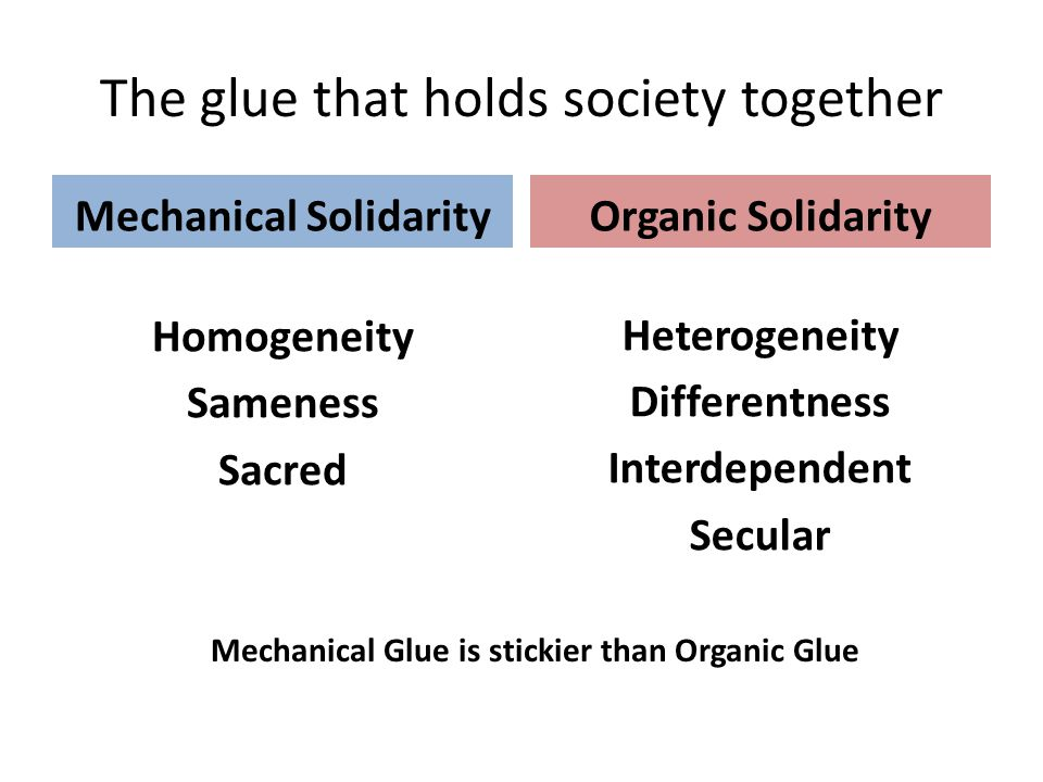 The glue that holds society together