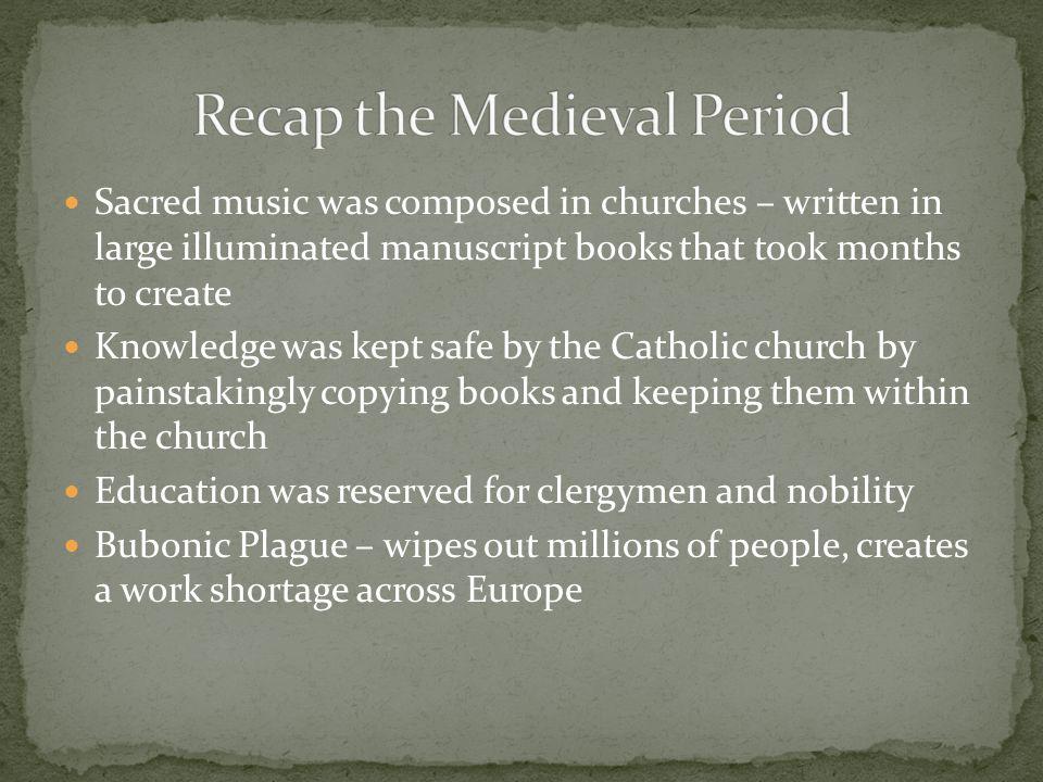 Recap the Medieval Period
