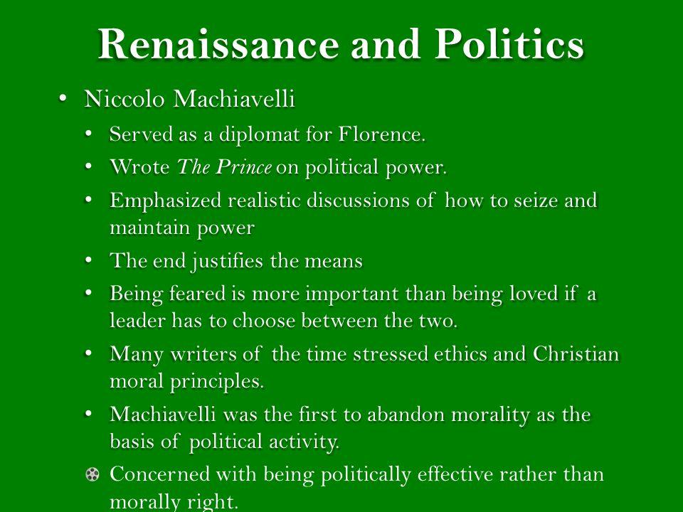 Renaissance and Politics