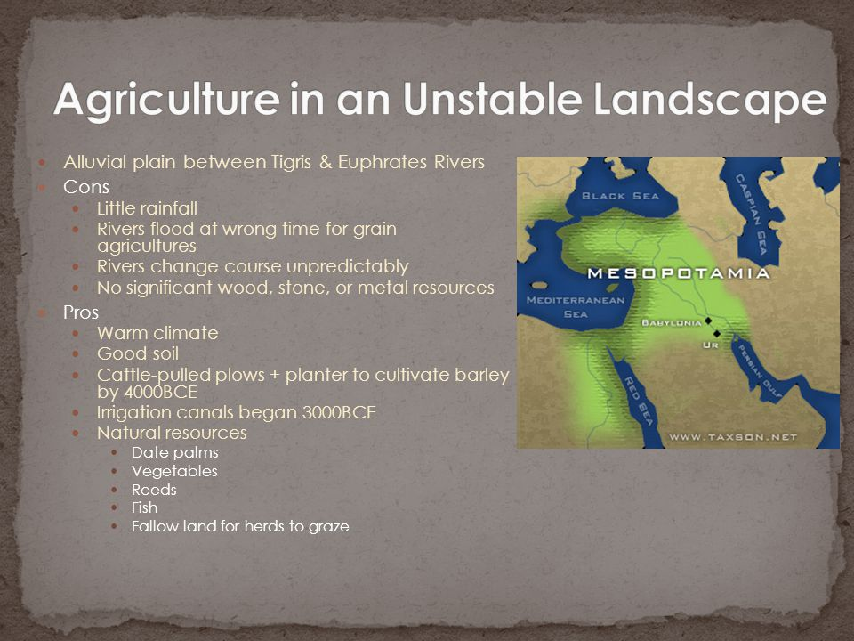 Agriculture in an Unstable Landscape