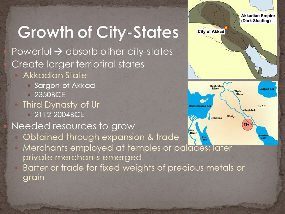 Growth of City-States Powerful  absorb other city-states