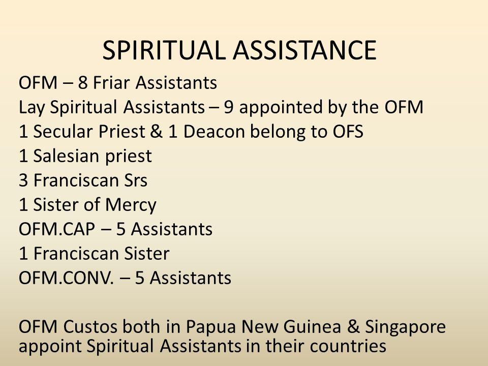SPIRITUAL ASSISTANCE OFM – 8 Friar Assistants