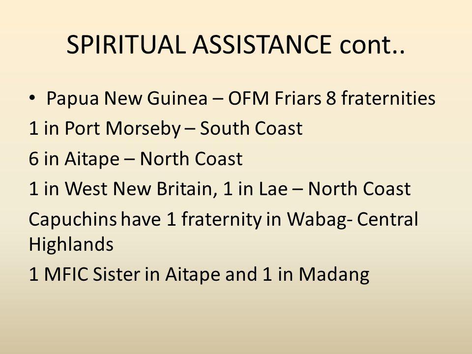 SPIRITUAL ASSISTANCE cont..