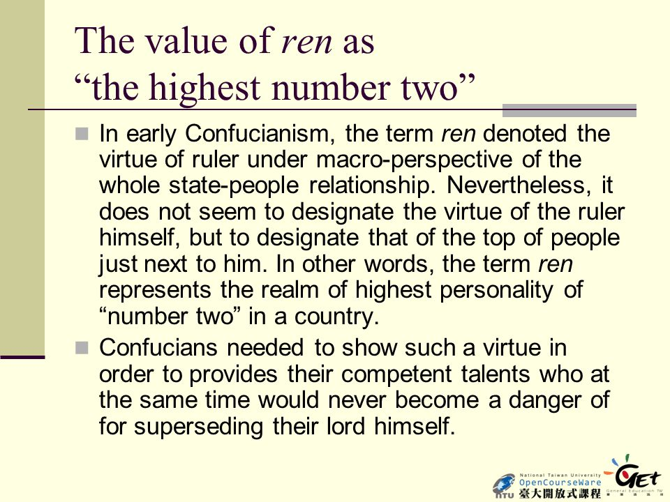 The value of ren as the highest number two