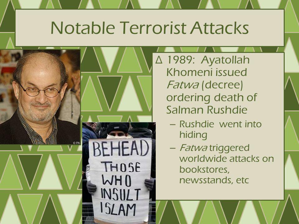 Notable Terrorist Attacks