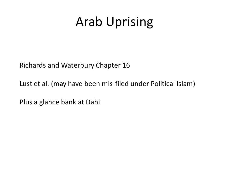 Arab Uprising Richards and Waterbury Chapter 16