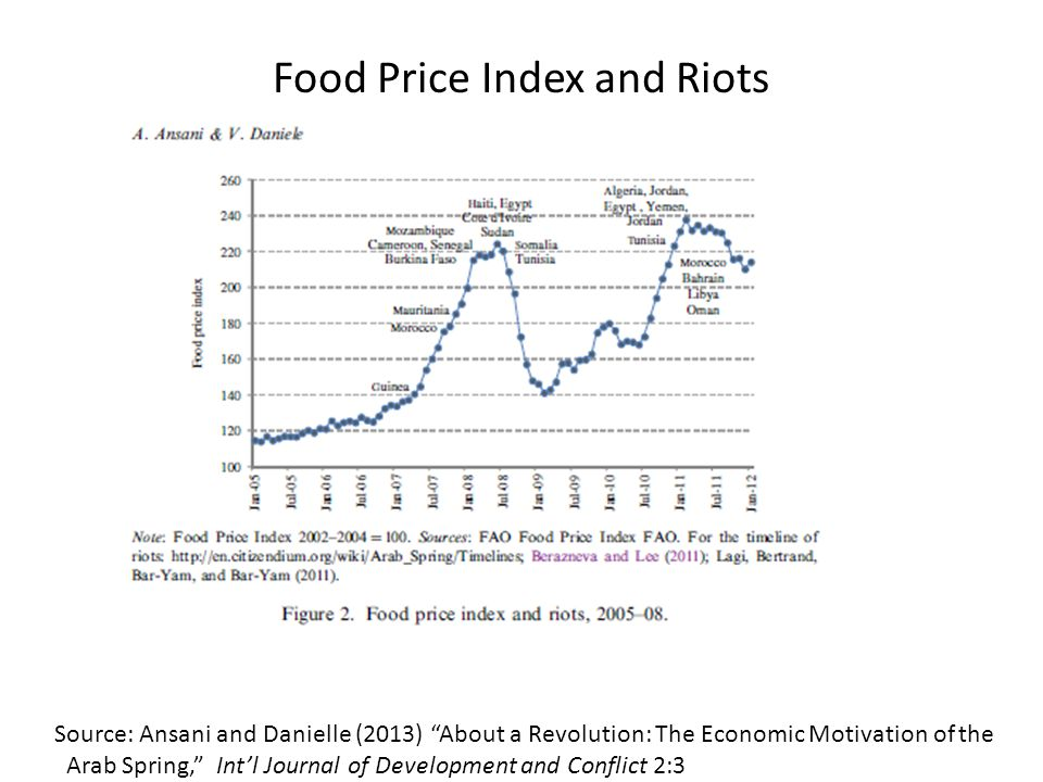 Food Price Index and Riots