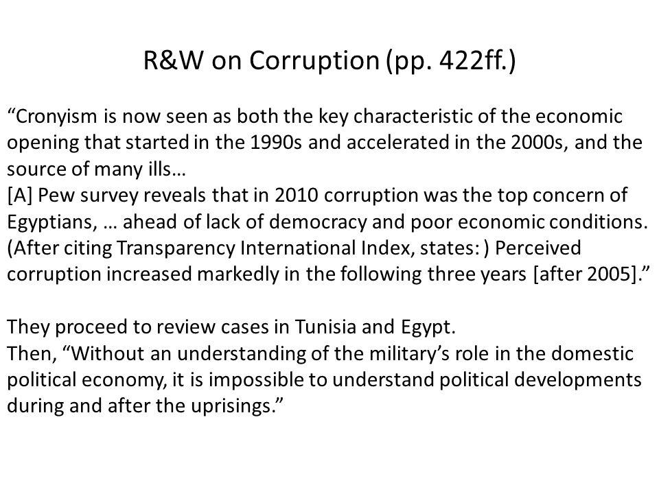 R&W on Corruption (pp. 422ff.)