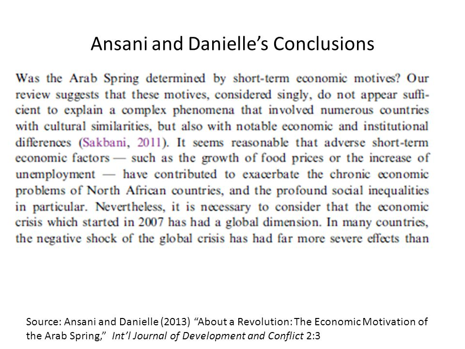 Ansani and Danielle's Conclusions