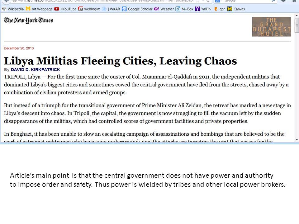 Libya Militias Fleeing Cities, Leaving Chaos