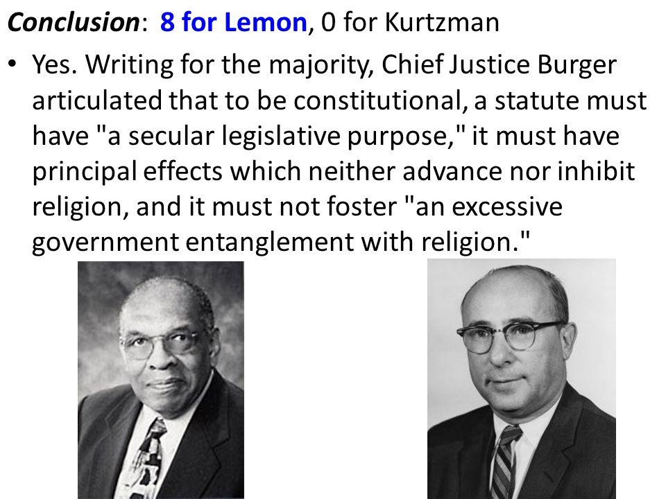Conclusion: 8 for Lemon, 0 for Kurtzman