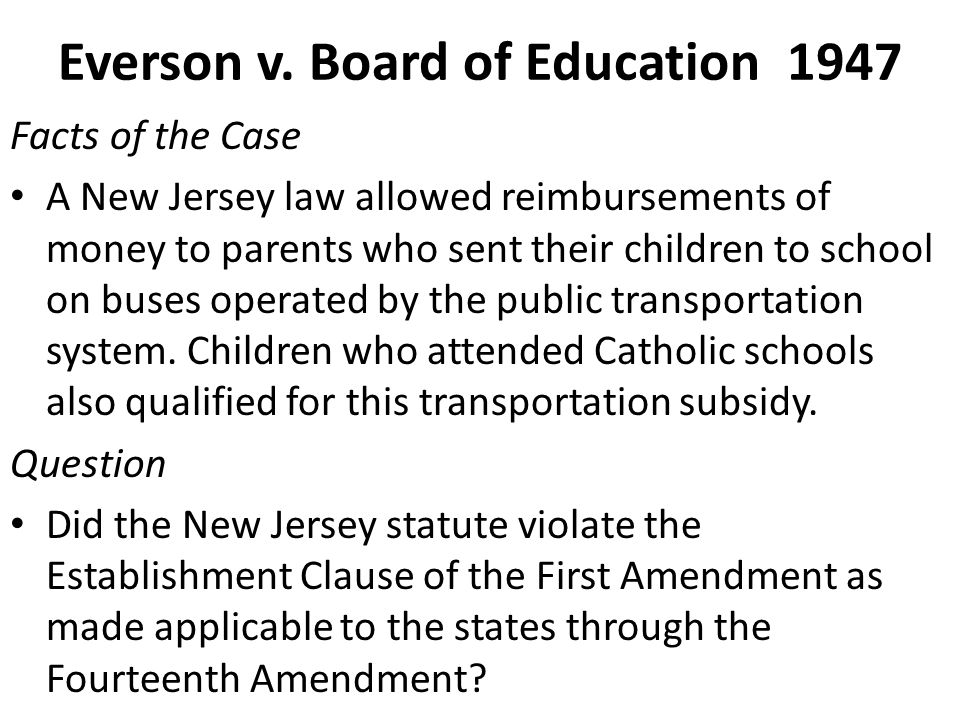Everson v. Board of Education 1947