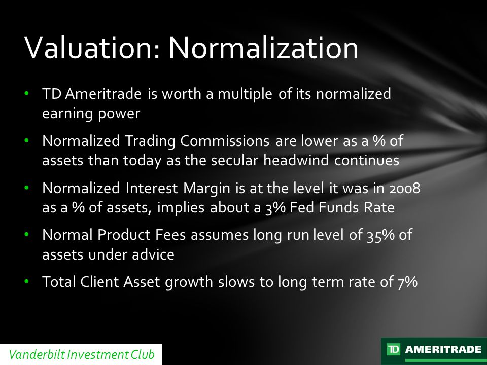 Valuation: Normalization