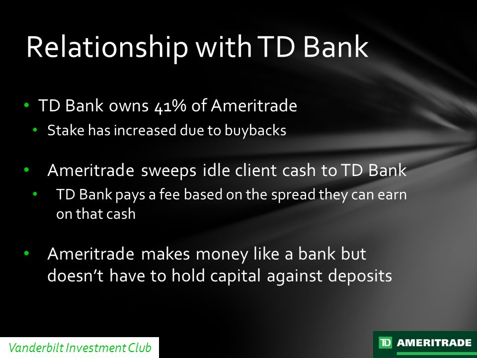 Relationship with TD Bank