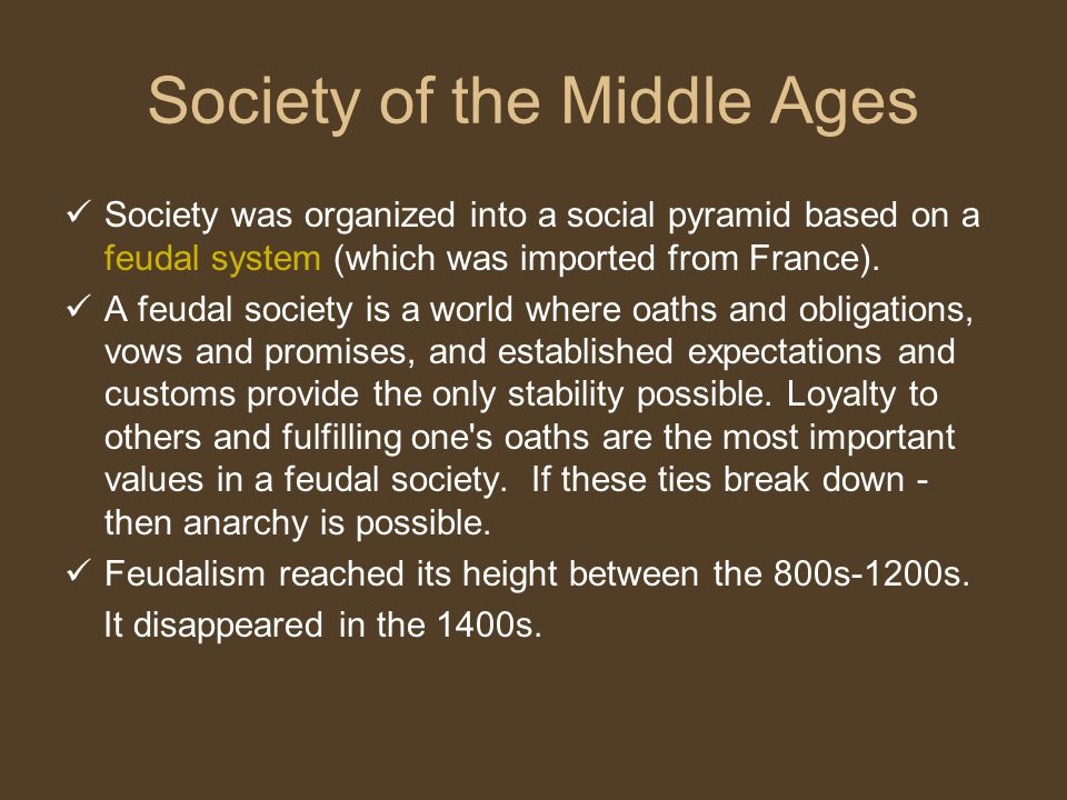Society of the Middle Ages