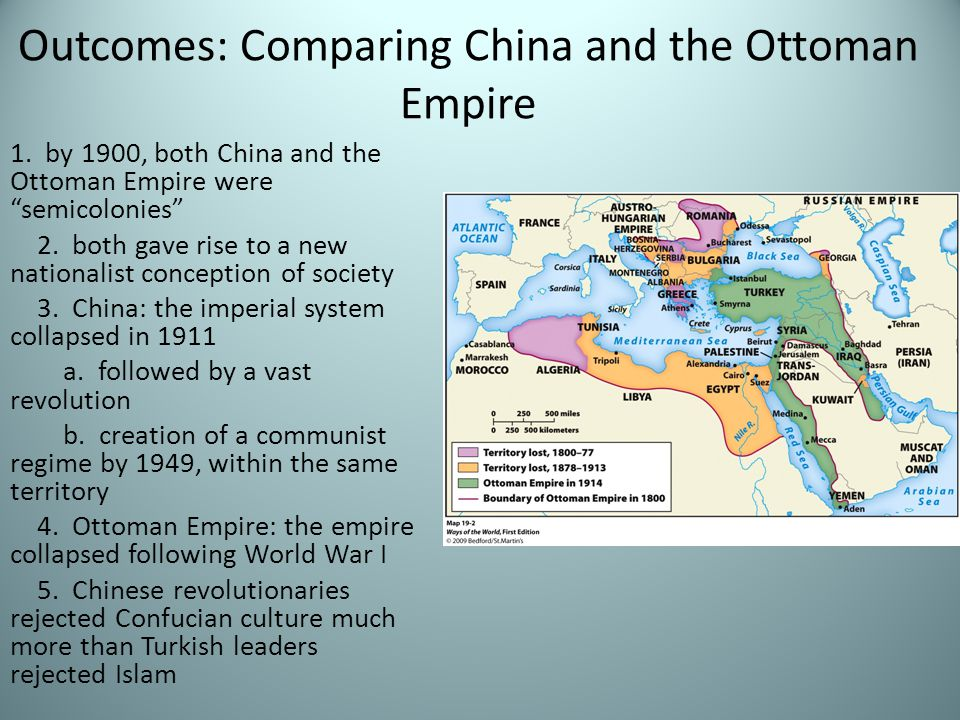 Outcomes: Comparing China and the Ottoman Empire