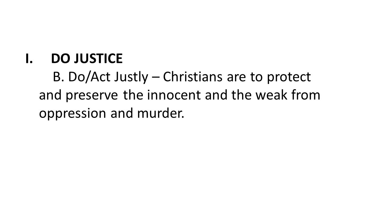 DO JUSTICE B.