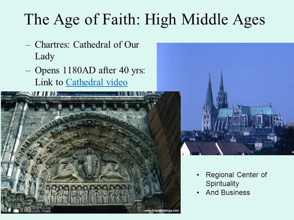 The Age of Faith: High Middle Ages