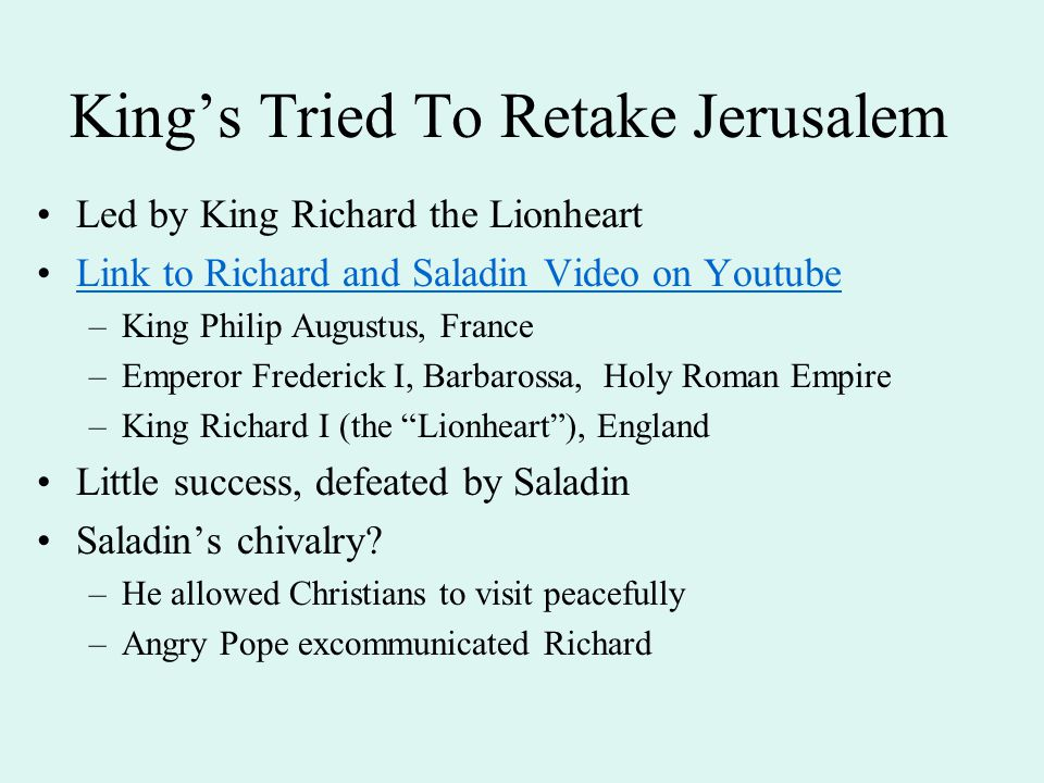 King's Tried To Retake Jerusalem