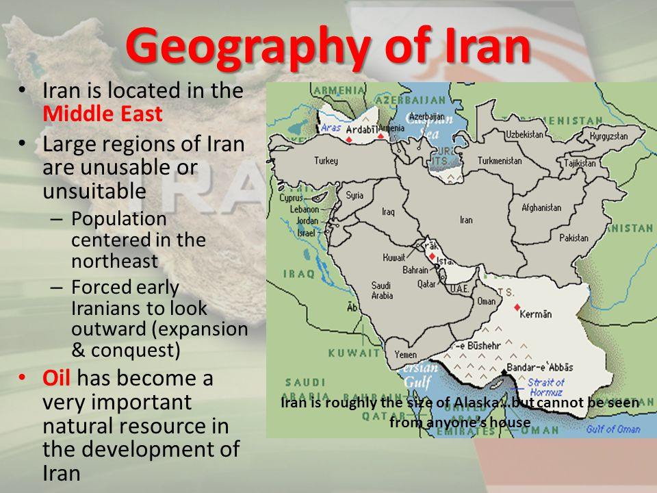 Geography of Iran Iran is located in the Middle East