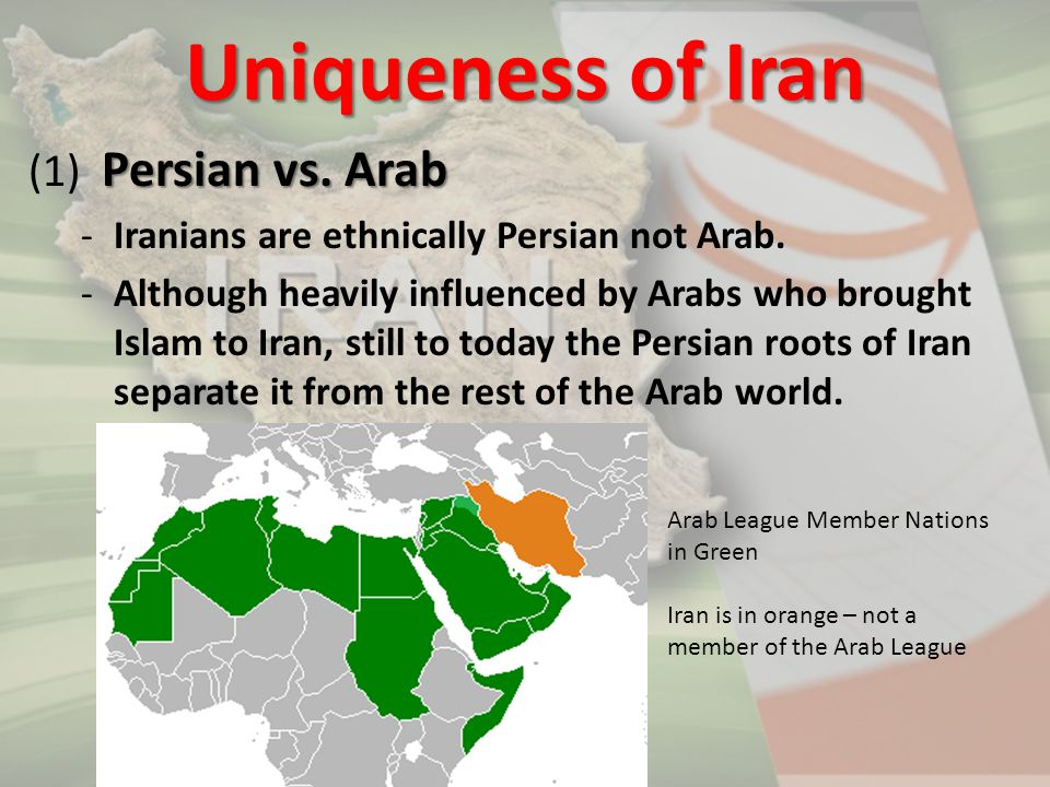 Uniqueness of Iran (1) Persian vs. Arab