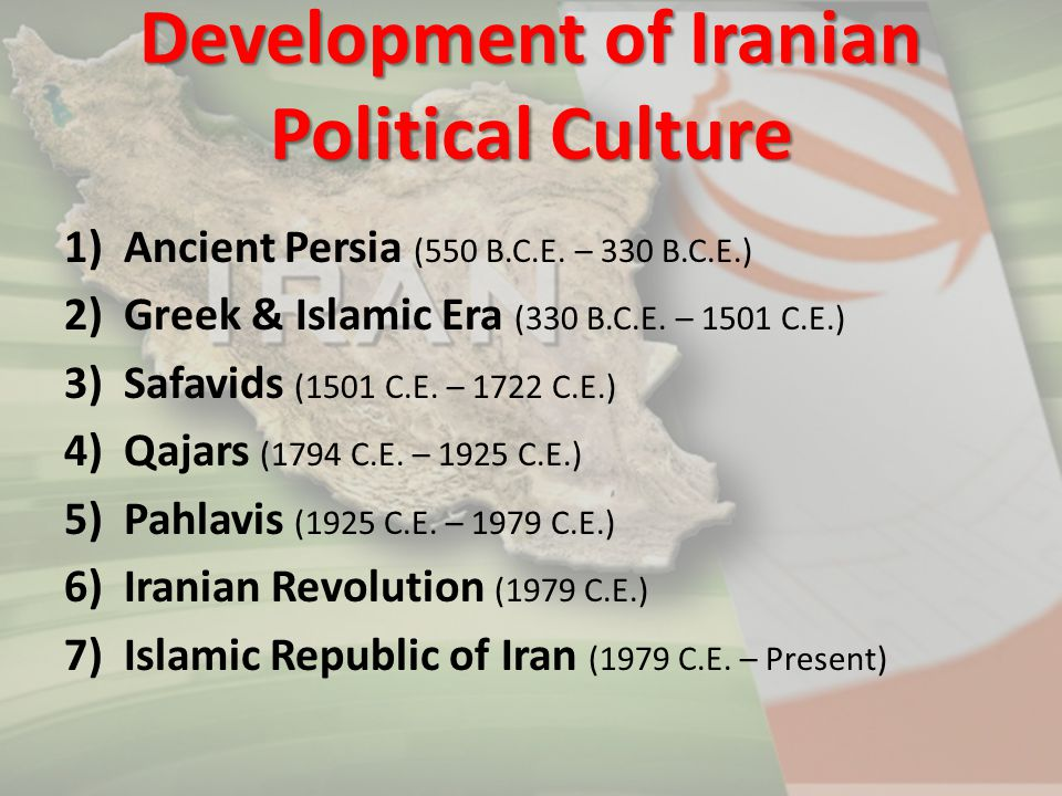 Development of Iranian Political Culture