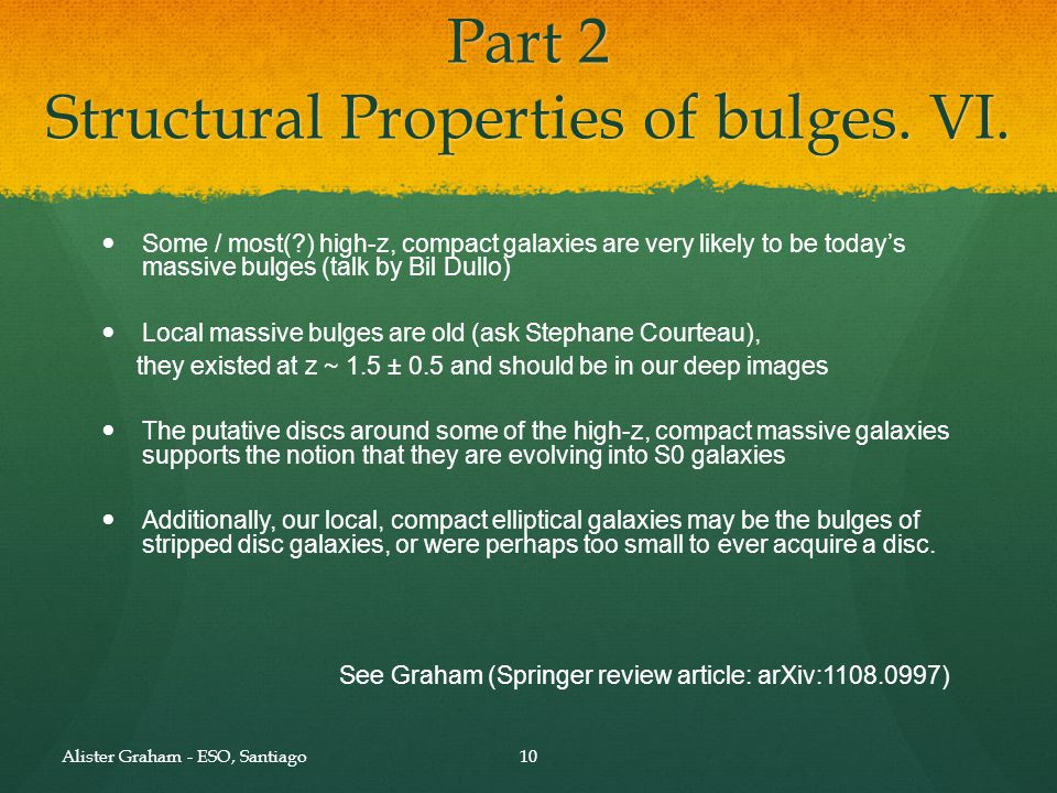 Part 2 Structural Properties of bulges. VII.