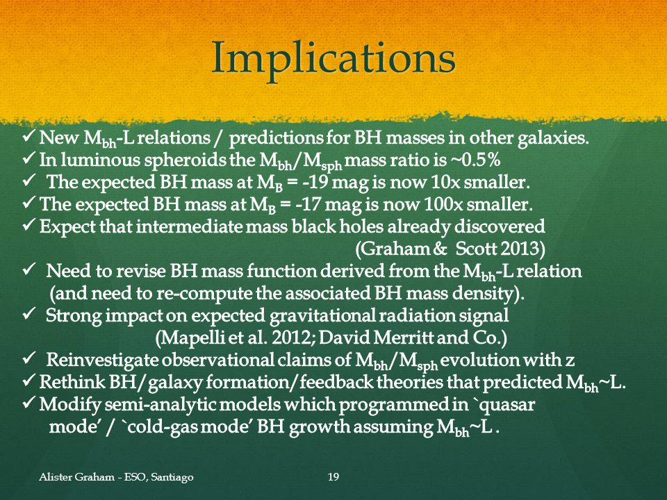 Summary. I. We need to be careful with our modelling of bulges (e.g. pec. Nuclei coupled with S/N-weighted fits)