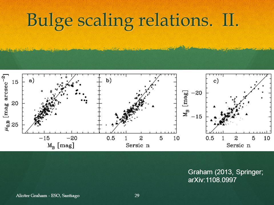 Bulge scaling relations. III.