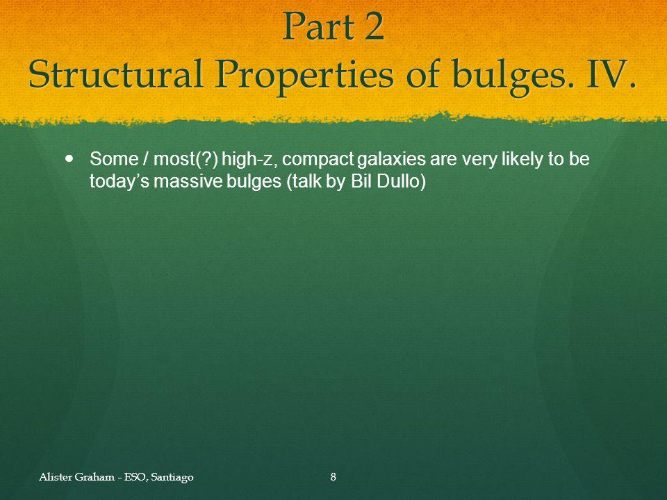 Part 2 Structural Properties of bulges. V.