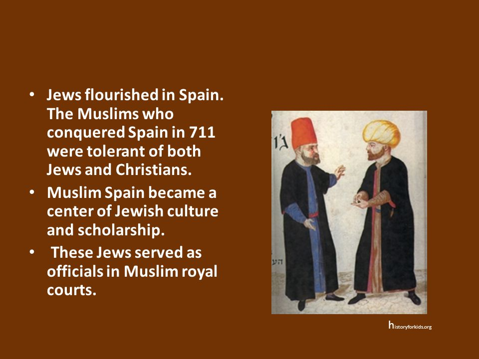 Muslim Spain became a center of Jewish culture and scholarship.