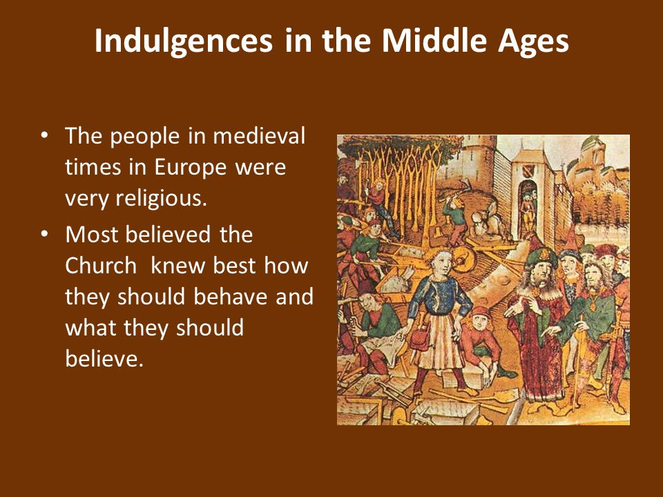 Indulgences in the Middle Ages