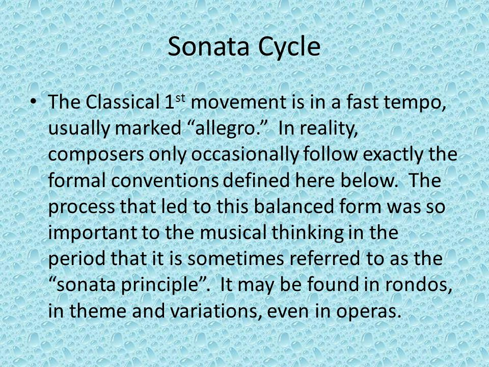 Sonata Cycle