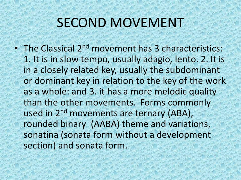 SECOND MOVEMENT