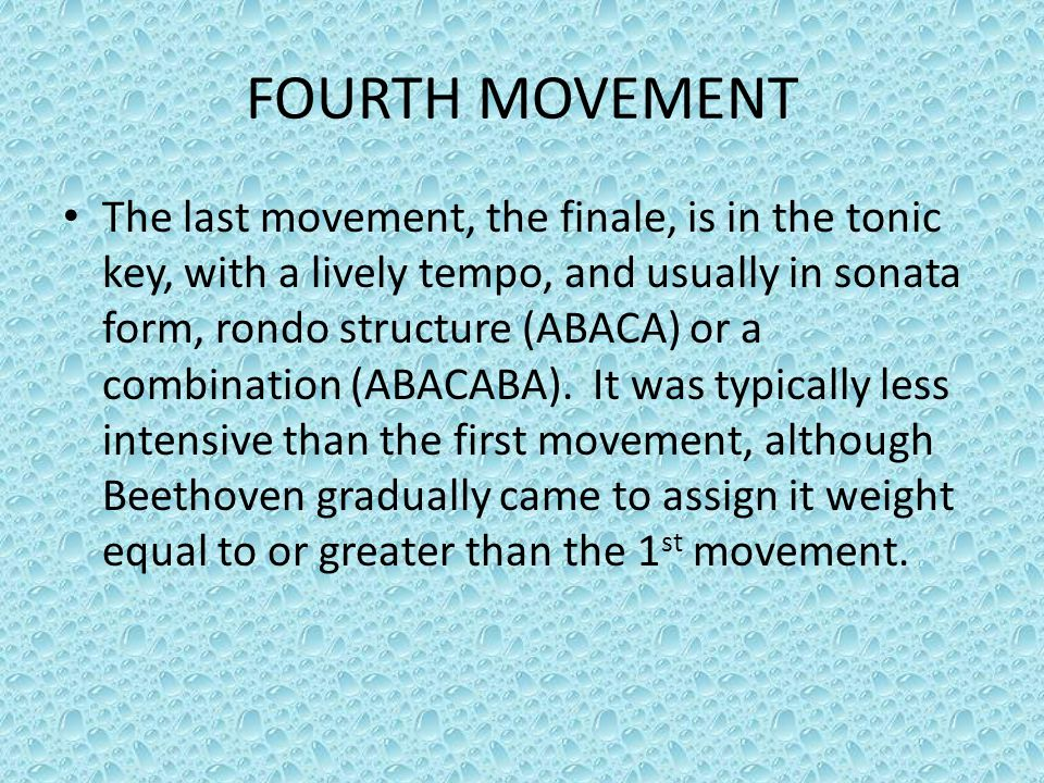 FOURTH MOVEMENT