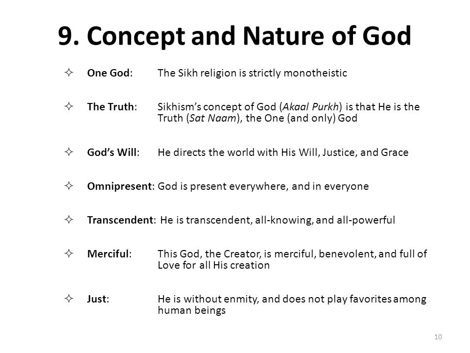 9. Concept and Nature of God