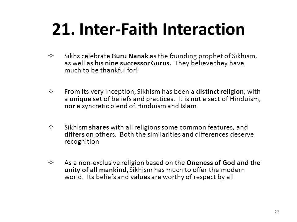 21. Inter-Faith Interaction